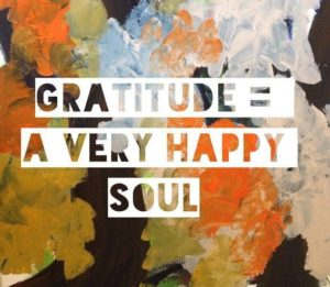 Gratitude = A Very Happy Soul